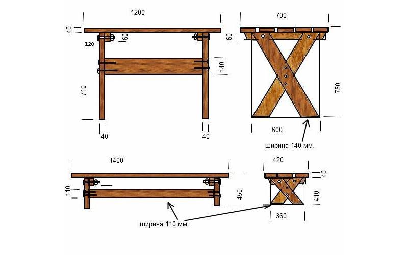 Как сделать простой столик на даче