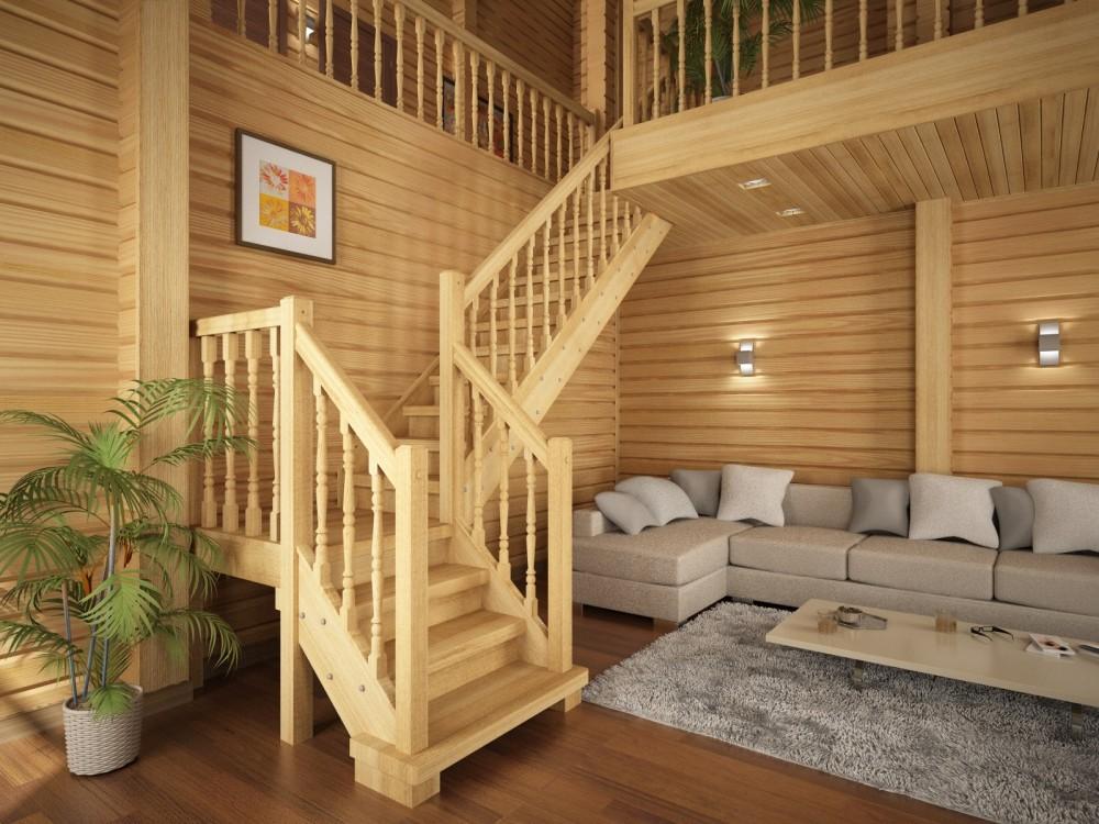 Лестница своими руками из дерева с фото