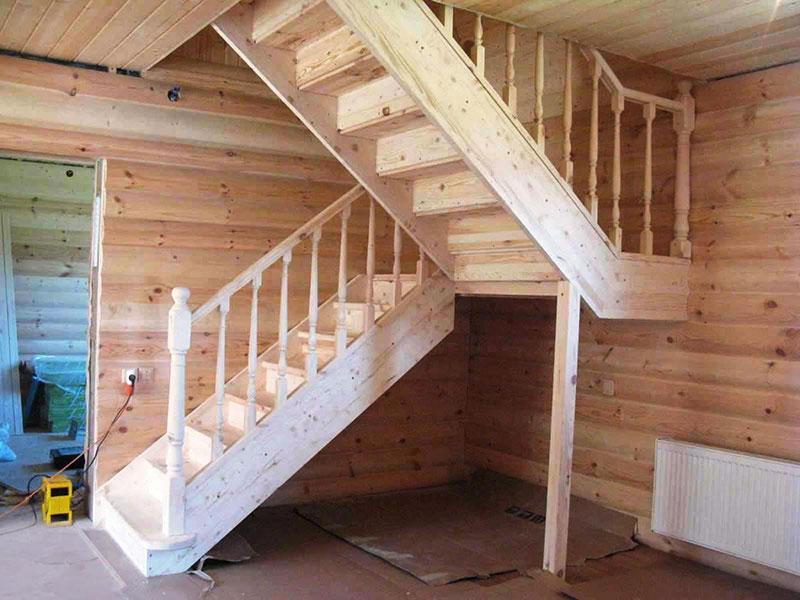 Лестницы поворотные своими руками