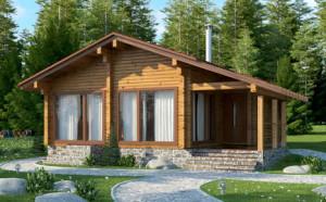 Одноэтажные дома в стиле Шале