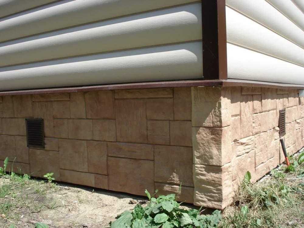 Особенности установки, крепления цокольного сайдинга на фундамент