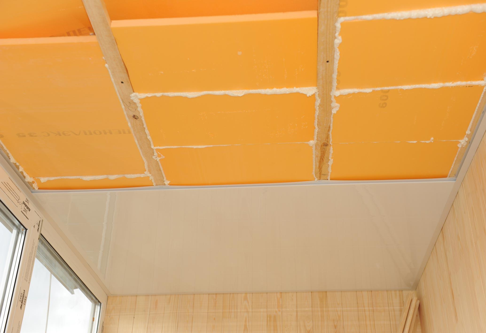 Потолок на оклеечная гидроизоляция