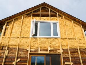 утепление бревенчатого дома своими руками
