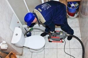 удаление засоров в канализации