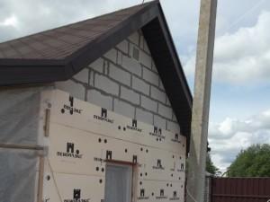 Процедура утепления дома из пеноблоков снаружи