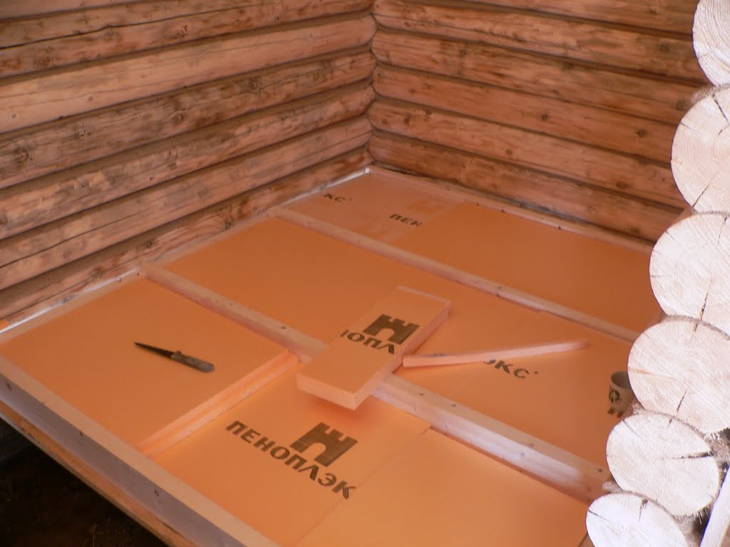 Утепление пола деревянного дома пеноплексом инструкция