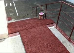 Какое резиновое покрытие для крыльца на улице лучше выбрать