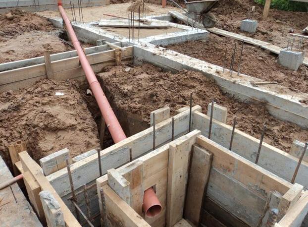 Фундамент канализация в частном доме своими руками