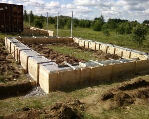 Как залить фундамент для бани из блоков своими руками