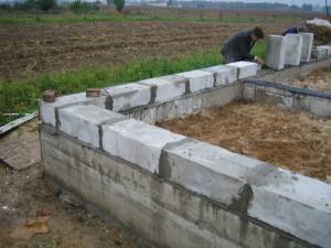 Как залить фундамент для бани из блоков