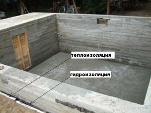 залить фундамент с подвалом под дом