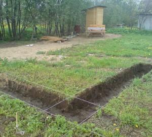 выкопать яму под фундамент самому