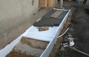 сделать отвод воды от фундамента дома