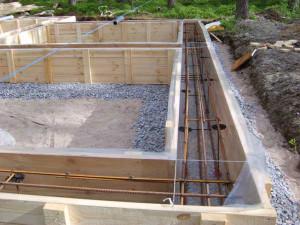 Как сделать под фундамент бани хороший бетон