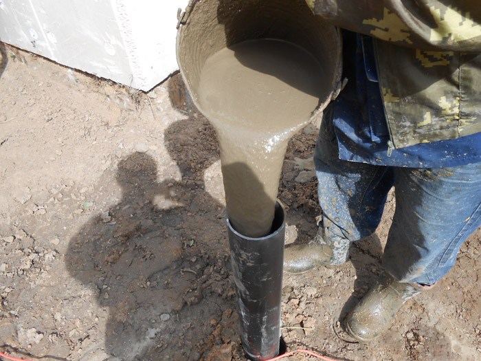 Фундамент из стальных труб