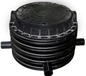 устанавливаются пластиковые колодцы для кабельной канализации