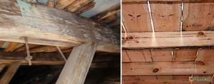 ремонт деревянной балки