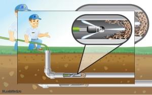 проводится очистка канализации в частном доме